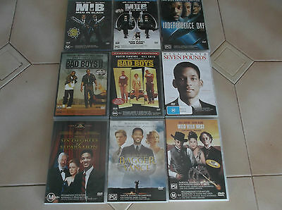 dvds-bulk lot-will smith x 9  assorted titles-or $5 per movie
