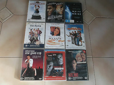 dvds-bulk lot-micheal keaton x 9 assorted titles-or $5 per movie