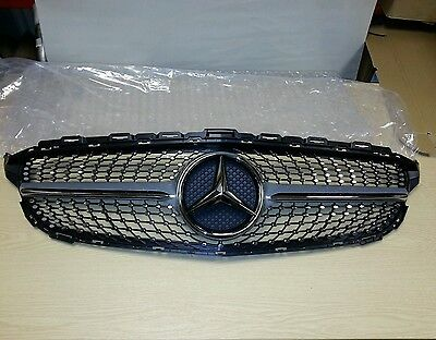 Mercedes-Benz W205 C-Class C450 Amg Front Grill Fits 2015 +