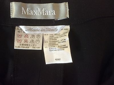 Max Mara Wide Leg Black Trousers, Size 12