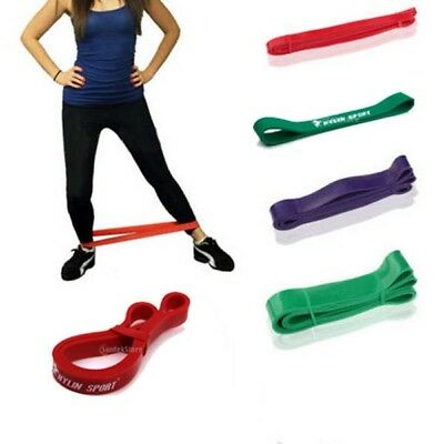 Heavy Duty RESISTANCE BAND Home GYM Fitness Workout Yoga Strength Exercise Sport