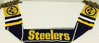 Pittsburgh Steelers Forever Collectables NFL Wordmark Scarf Brand New With Tags