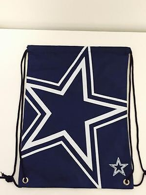 Dallas Cowboys Forever Collectables NFL Drawstring Bag Brand New With Tags
