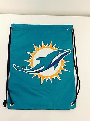Miami Dolphins Forever Collectables NFL Drawstring Bag Brand New With Tags