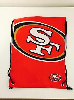 San Francisco 49ers Forever Collectables NFL Drawstring Bag Brand New With Tags