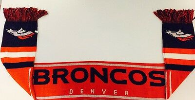 Denver Broncos Forever Collectables NFL Wordmark Scarf Brand New With Tags