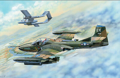 Trumpeter 1/48 US A-37B Dragonfly Light Ground-Attack Aircraft [02889]