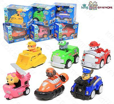 6x Cute Paw Patrol Action Figure Doll Racer Car Kids Baby Boy Girl Toy Xmas Gift