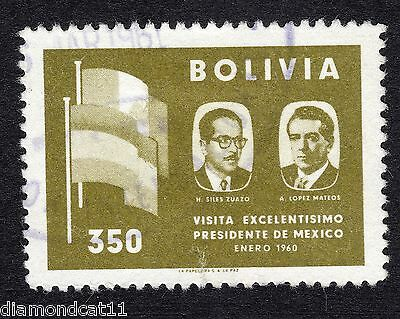 1960 Bolivia 350b Visit of Mexican President to Bolivia SG657 FINE Used R16163