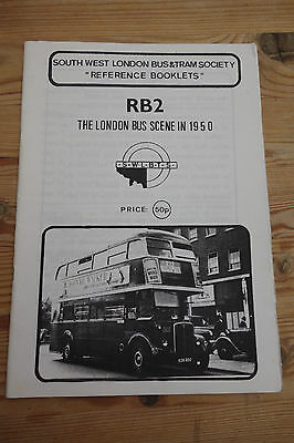 """""""The London Bus Scene in 1950"""" 1990 London Transport History Reference"""