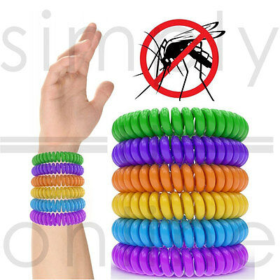 Mosquito Repellent Bracelets Natural Deet Free Waterproof Spiral Wrist Bands
