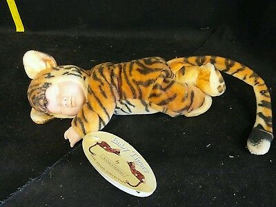 """Anne Geddes Baby Tigers 9"""" Doll, new with tags year 2000"""
