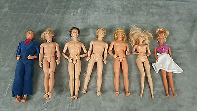 Ken/Barbie Lot 7 Dolls Muse Articulated GUC Rare Vintage