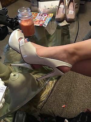 Next Occasions Peep Toe Sling Back  Size 4 High Heeles