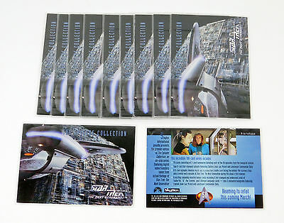 Lot of (11) 1994 Skybox Star Trek TNG Episode Collection Promo Card (S1) Nm/Mt