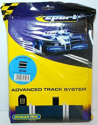 Scalextric Track C8207 Half Straight 175mm Pack of 2