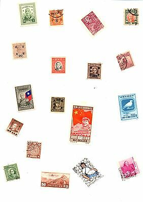 175 Unchecked Stamps Off Paper From China