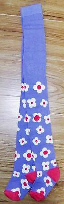 Bnwot Next Girls Winter Tights Blue & Flower Pattern 5-6 Yrs New Party Christmas