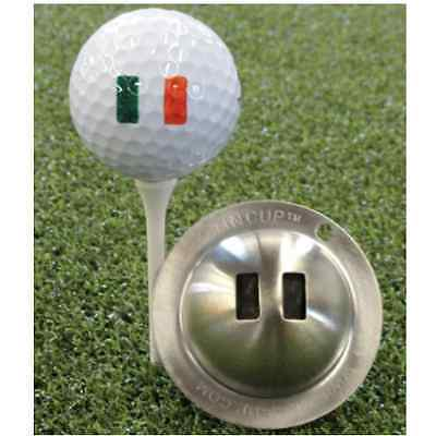 Tin Cup Golf Ball Marker - Irish Flag