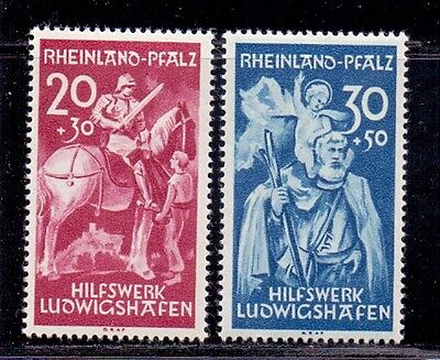Germany - French Occupation of Rhineland. Set of 2 LH Mint stamps. 1948
