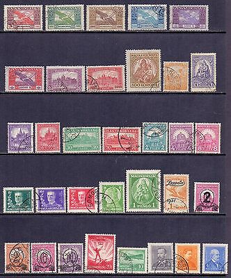 Hungary. 33 used stamps. 1920 to 1933. Catalogue £193