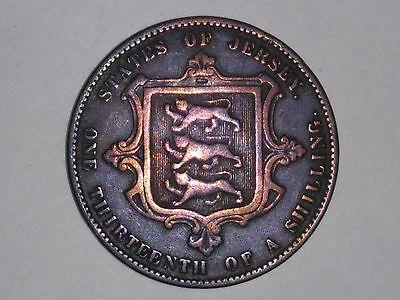 Old Jersey Coin 1870 1/13 Shilling