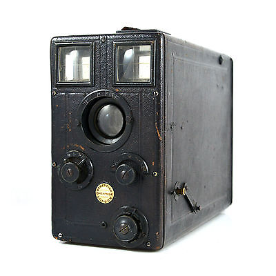 A.J. Pipon New Cosaque Senior / Benetfink - rare antique falling plate camera