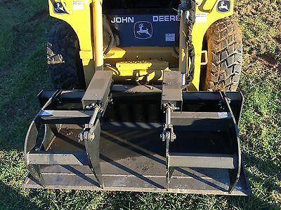 "Blue Diamond 66"" Heavy Duty Grapple Bucket Skid Steer Attachment PN:106085"