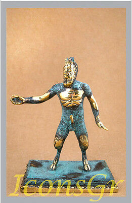 Ancient Greek Bronze Museum  Statue Replica Of Pan (207)