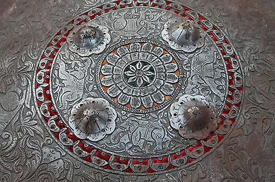 Indo-Persian Rare Vintage Antique Mughal Islamic Ottoman Iron Shield/ Dhal