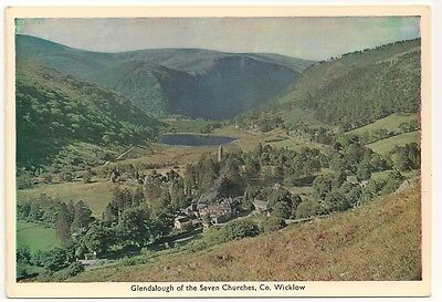 Old Postcard Glendalough of the Seven Churches, Co. Wicklow