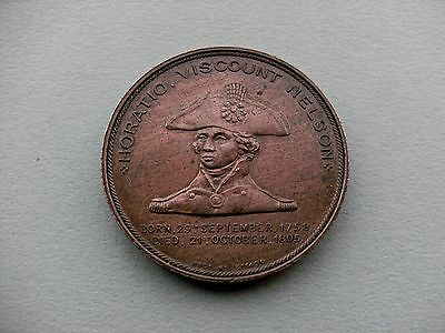 British 19th Century Medal - A Lord Nelson's Foudroyant Flagship Copper Medal.