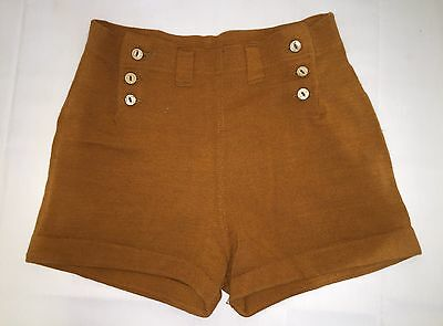 Vintage Wool Swimsuit Bathing Suit Bottoms Shorts Orange Rust Mens Boys Youth