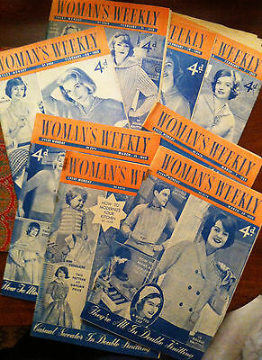 "Vintage 1959 ""Woman's Weekly"" magazines"