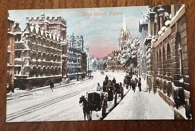 Printed postcard of High Street Oxford