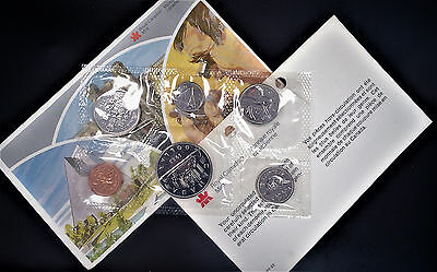1983 Canada Royal Canadian Mint 6 Coin Proof Like Set Uncirculated mint set