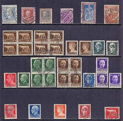 Italy. 8 mint and 29 used stamps issued 1927 to 1942. Catalogue £32
