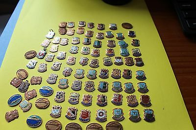 80 x  uk county crests no pins or fixings great for walking stick  badges etc