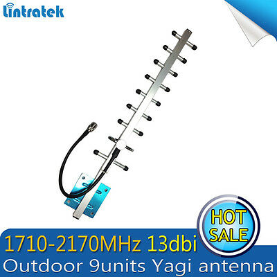 1710/2170MHz 13dbi 3G 4G Outdoor Yagi Antenna for Mobile Signal Booster Repeater
