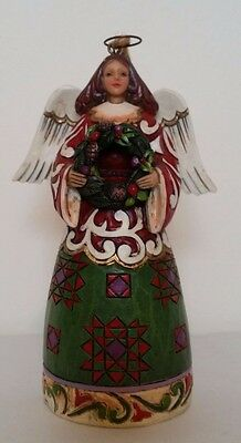 'Angel with Wreath' Hanging Ornament by Jim Shore