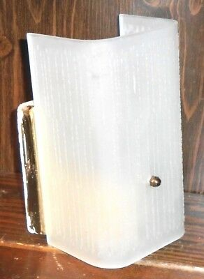 Vintage Mid Century Modern 7in Bathroom Light Fixture Wall Sconce & Cover
