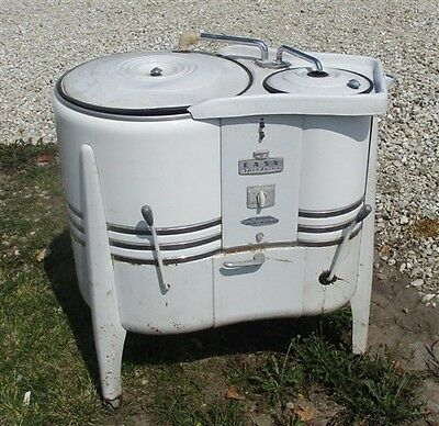 Washing Machine Wringer Washer Vintage Mid Century Easy Spindrier Double Tub a