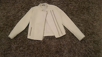 Very Little Worn Perfect Condition Girls Faux Leather Jacket Age 12-13years