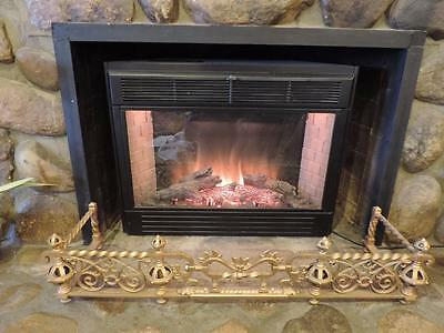 Antique Fire Place Decor Skirt Fender Arts & Crafts Iron Gothic Extends