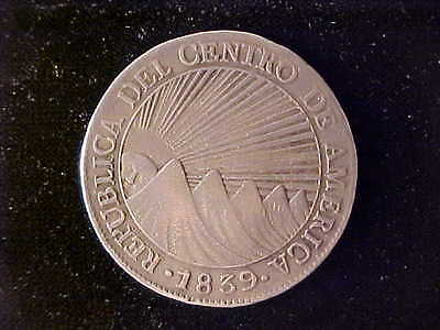 Central American Republic 8 Reales 1839Ma Nearly Vf