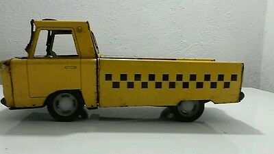 Vintage Tin Toy Friction Airport Luggage Taxi Truck Pick-Up Cab