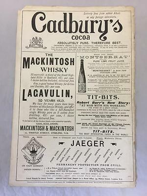 Original Cadbury's Cocoa Advert & Others From Navy & Army Illustrated 1896