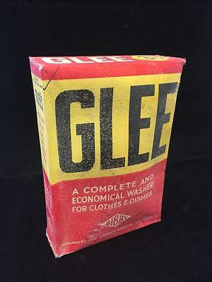 Vintage Early Unopened Packet of Glee Washing Soap Powder Price 3.5d Bibby