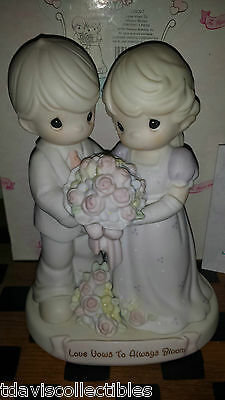 LOVE VOWS TO ALWAYS BLOOM ~ Bride Groom Wedding ~ 1995 ~ Precious Moments 129097