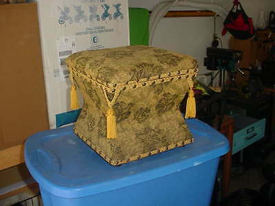 Foot Stool, Antique French A True Beauty With Storage Inside